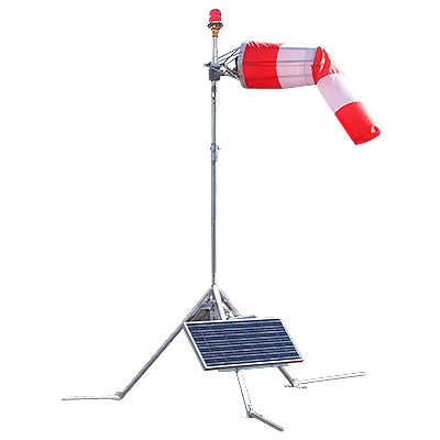 Solar Series Portable LED Wind Cone
