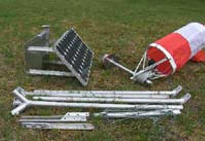 Solar Series Portable LED Wind Cone setup