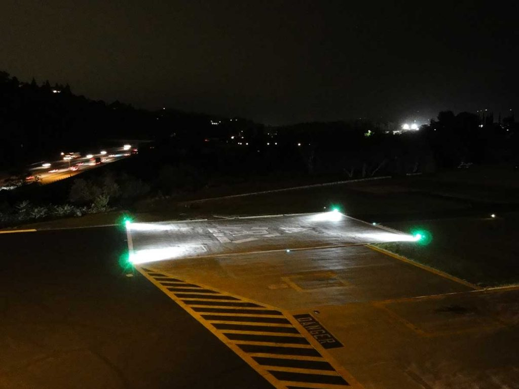 LED Surface Floodlight with Cover Flushlight Model 702 LED Series installed