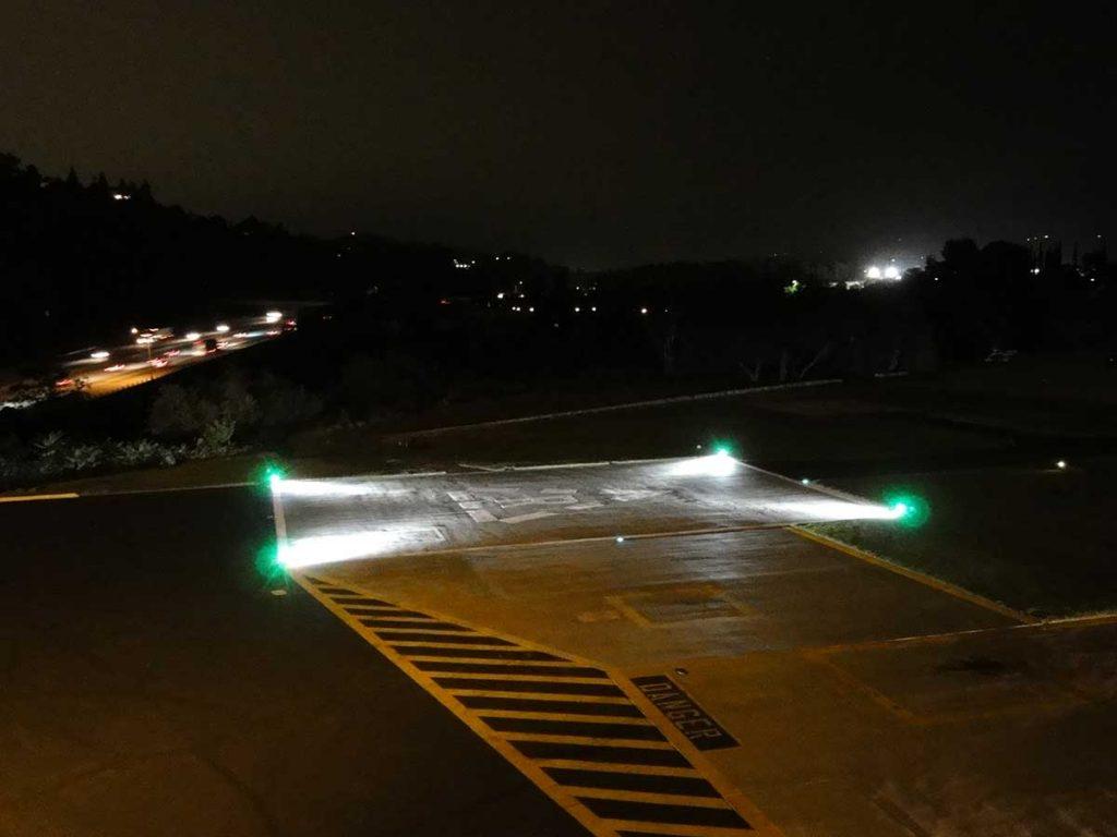 Surface Floodlight with LED Perimeter Light Model 700 LED installed