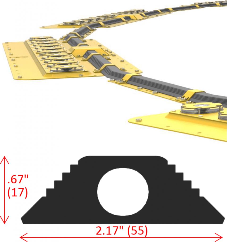 Q-TDPM Touchdown Circle Lighting Dimensions