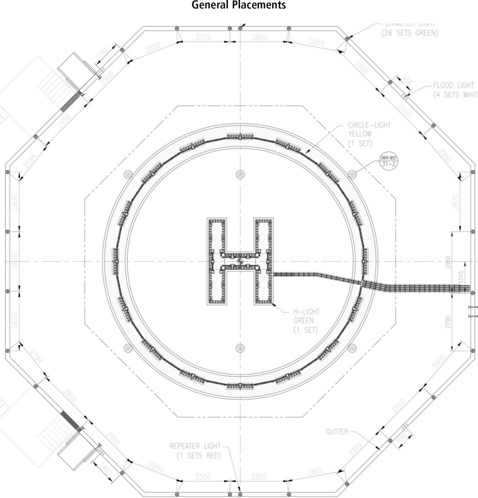 Q-TDPM Touchdown Circle Lighting Placements