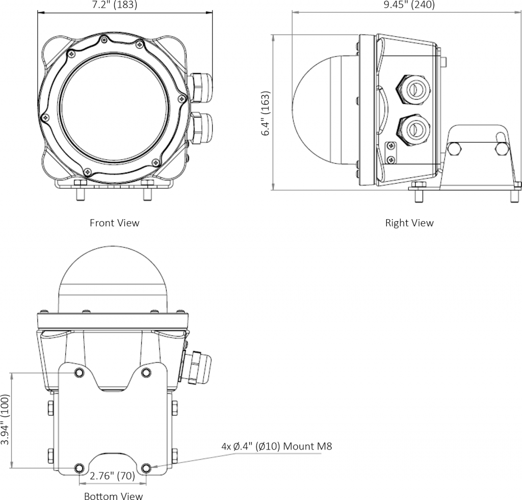 Q-EX Helideck Floodlight drawings