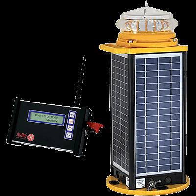 AV-426 Series II Radio Controlled Solar Runway or Approach Airfield Light | Avlite