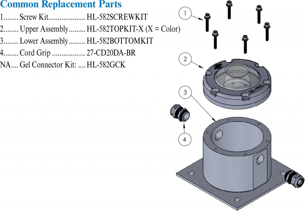HL-582L Parts