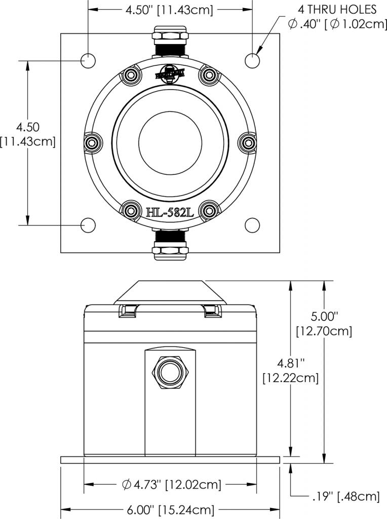 HL-582L Dimensions