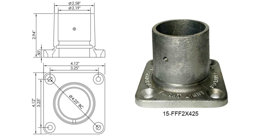 15-FFF2X425 frangible coupling