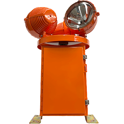 HBM 150/3 L-801H L-802H Heliport Rotating Beacon clear