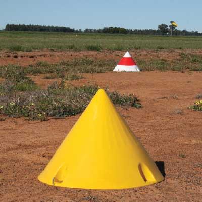 AV-LC Airfield Cone Marker in field