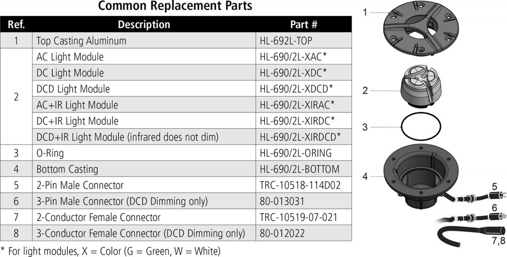 HL-692L replacement parts